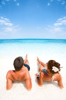 couple relaxing in a water picture id185013183